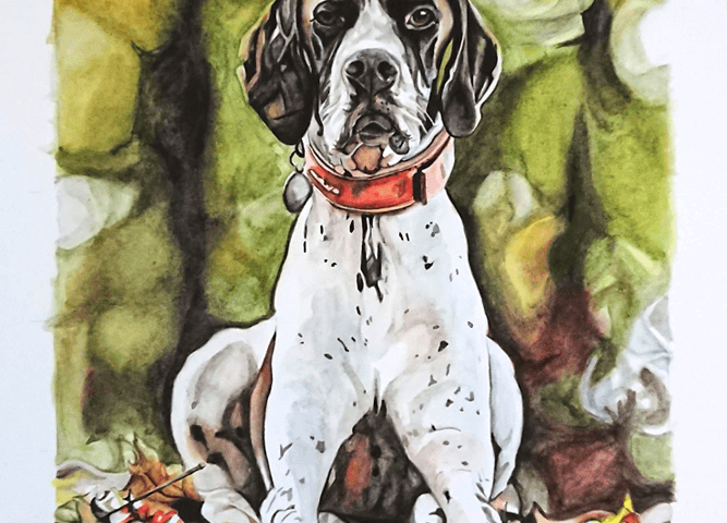 Dog Watercolour